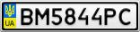 Номерной знак - BM5844PC