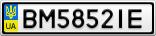 Номерной знак - BM5852IE