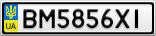 Номерной знак - BM5856XI