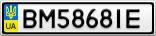 Номерной знак - BM5868IE