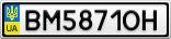 Номерной знак - BM5871OH