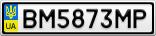 Номерной знак - BM5873MP