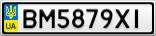 Номерной знак - BM5879XI