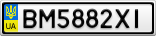 Номерной знак - BM5882XI
