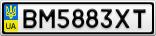 Номерной знак - BM5883XT
