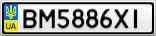 Номерной знак - BM5886XI