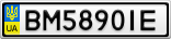 Номерной знак - BM5890IE