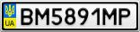 Номерной знак - BM5891MP