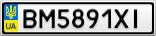 Номерной знак - BM5891XI