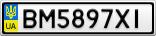 Номерной знак - BM5897XI