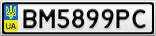 Номерной знак - BM5899PC