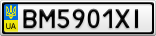 Номерной знак - BM5901XI