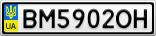 Номерной знак - BM5902OH