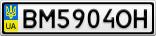 Номерной знак - BM5904OH