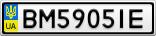 Номерной знак - BM5905IE