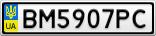Номерной знак - BM5907PC