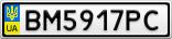 Номерной знак - BM5917PC