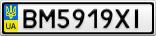 Номерной знак - BM5919XI