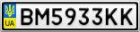 Номерной знак - BM5933KK