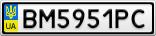 Номерной знак - BM5951PC