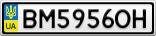 Номерной знак - BM5956OH