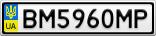 Номерной знак - BM5960MP