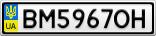 Номерной знак - BM5967OH