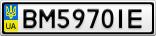 Номерной знак - BM5970IE