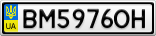Номерной знак - BM5976OH