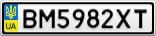 Номерной знак - BM5982XT