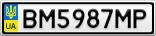 Номерной знак - BM5987MP