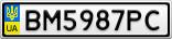 Номерной знак - BM5987PC