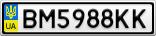 Номерной знак - BM5988KK