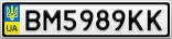 Номерной знак - BM5989KK