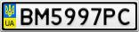 Номерной знак - BM5997PC