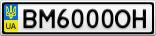 Номерной знак - BM6000OH