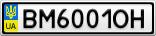 Номерной знак - BM6001OH