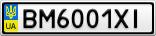 Номерной знак - BM6001XI