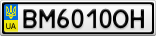 Номерной знак - BM6010OH