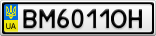 Номерной знак - BM6011OH