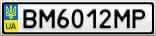 Номерной знак - BM6012MP