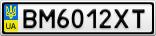 Номерной знак - BM6012XT