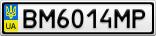 Номерной знак - BM6014MP
