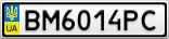 Номерной знак - BM6014PC