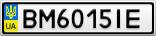 Номерной знак - BM6015IE