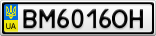 Номерной знак - BM6016OH