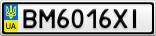 Номерной знак - BM6016XI