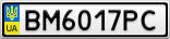 Номерной знак - BM6017PC