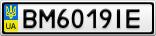 Номерной знак - BM6019IE