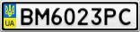 Номерной знак - BM6023PC